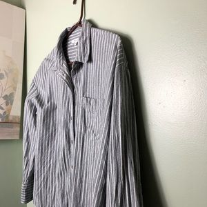 NWOT MADEWELL STRIPED 💯 COTTON BUTTON DOWN.